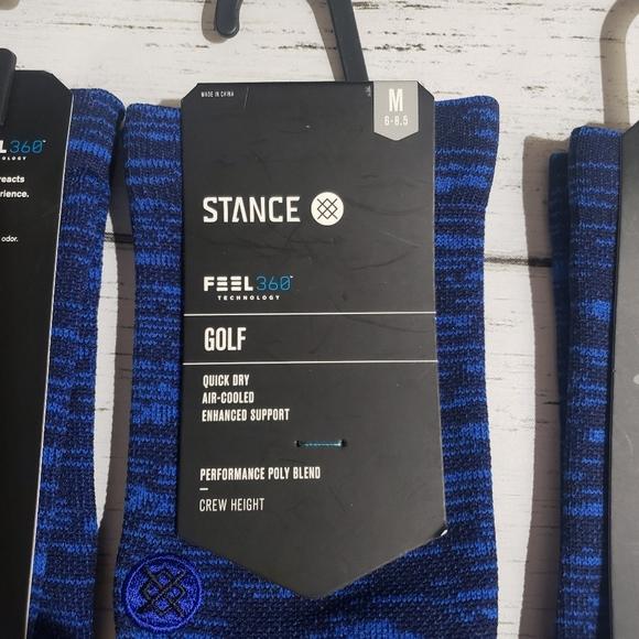 Stance Golf Socks Men Size Medium (6-8.5)